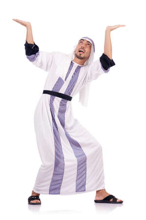 Arab man isolated on the white Stock Photo - 18037325