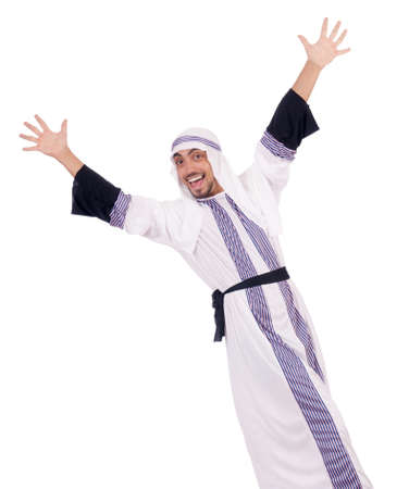 Arab man isolated on the white Stock Photo - 18037651