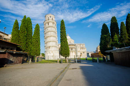Famous leaning tower of Pisa during summer day Stock Photo - 18014519