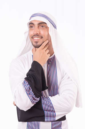 Arab businessman isolated on the white Stock Photo - 18037589