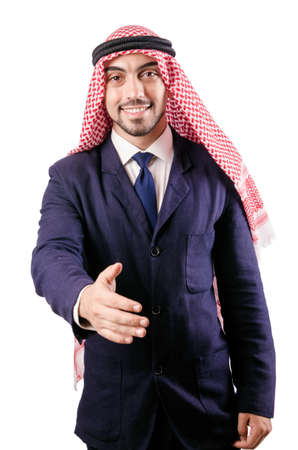 Arab businessman isolated on the white Stock Photo - 18037199