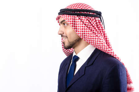 Arab businessman isolated on the white Stock Photo - 18037583
