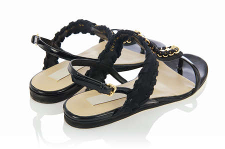 Woman sandals isolated on the white Stock Photo - 18011982