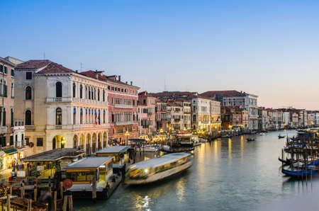 VENICE, ITALY - JUNE 30: View from Rialto bridge on June 30, 2012 in Venice, Italy. Rialto is the biggest bridge in Venice Stock Photo - 18017440