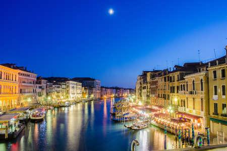 VENICE, ITALY - JUNE 30: View from Rialto bridge on June 30, 2012 in Venice, Italy. Rialto is the biggest bridge in Venice Stock Photo - 18017441