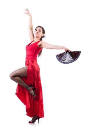 danseres silhouet: Vrouwelijke danser spaans dansen