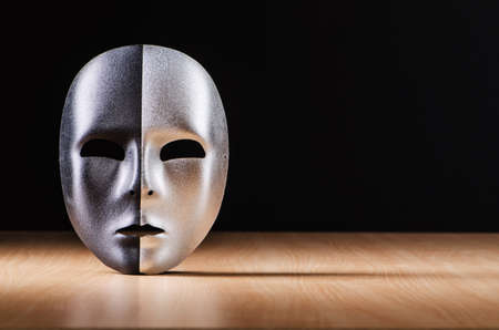 Mask against the dark background Stock Photo - 18014292