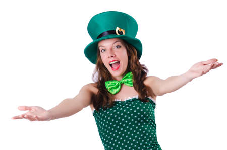 Young girl in saint patrick celebration concept Stock Photo - 18037354
