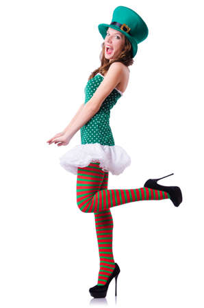 Young girl in saint patrick celebration concept photo