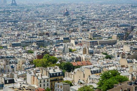Skyline of Paris on bright summer day Stock Photo - 18014555