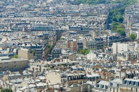Skyline of Paris on bright summer day Stock Photo - 18014654