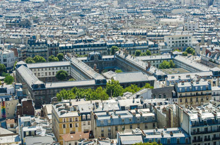 Skyline of Paris on bright summer day Stock Photo - 18017466
