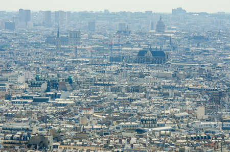 Skyline of Paris on bright summer day Stock Photo - 18014649