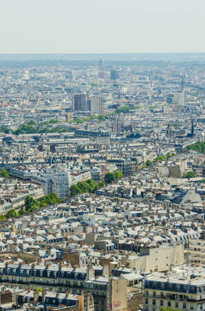 Skyline of Paris on bright summer day Stock Photo - 18014650