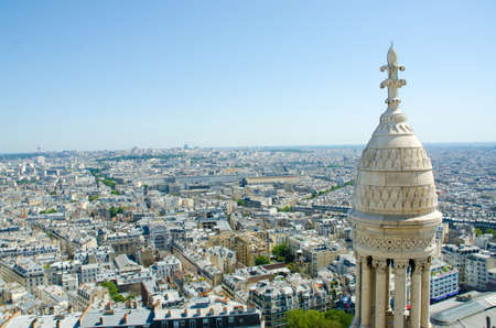 Skyline of Paris on bright summer day Stock Photo - 18014516
