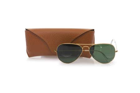Elegant sunglasses isolated on the white Stock Photo - 18010212
