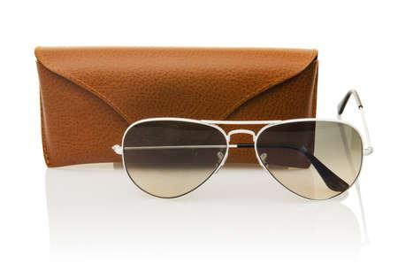 Elegant sunglasses isolated on the white Stock Photo - 18012639