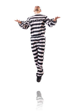 Convict criminal in striped uniform Stock Photo - 18037517
