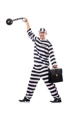 Convict criminal in striped uniform Stock Photo - 18037434