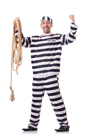 Convict criminal in striped uniform Stock Photo - 18037339