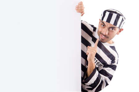 Convict criminal in striped uniform Stock Photo - 18037674