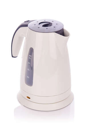 White electric kettle isolated Stock Photo - 18010361