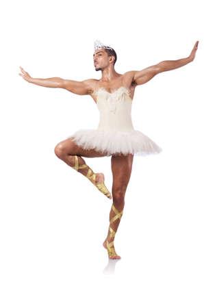 ballet dancing: Muscular ballet performer in funny concept