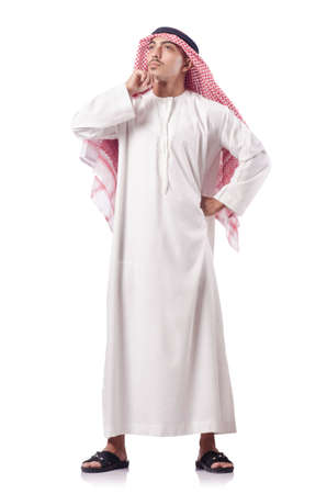 Arab man isolated on the white Stock Photo - 18037703