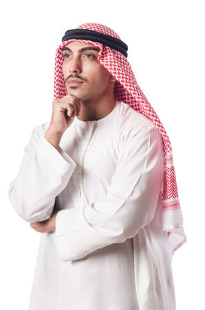 Diversity concept with arab on white Stock Photo - 18037452