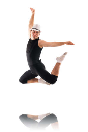 Dancer isolated on the white background Stock Photo - 18067347