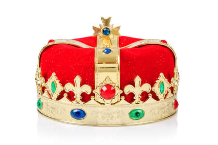 King crown isolated on white Stock Photo - 18012394