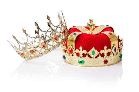 luxuriance: King crown isolated on white