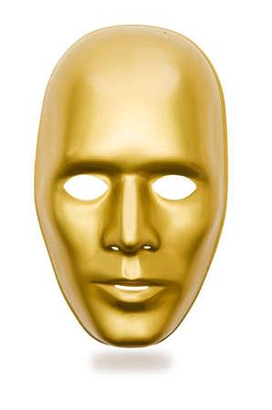 Shiny masks isolated on white background Stock Photo - 18012129