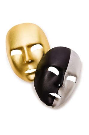 Shiny masks isolated on white background Stock Photo - 18013313