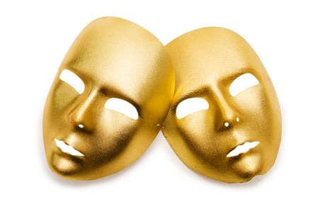 Shiny masks isolated on white background Stock Photo - 18014289