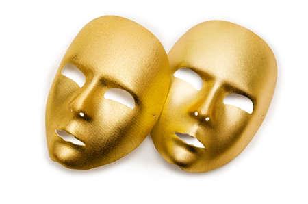 Shiny masks isolated on white background Stock Photo - 18014217