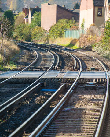 Rail tracks in bright summer day Stock Photo - 18163163