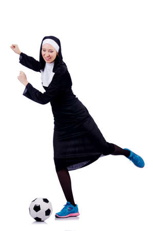 Young nun in religious concept Stock Photo - 18620908