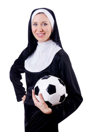 Young nun in religious concept Stock Photo - 18636294