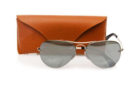 Elegant sunglasses isolated on the white Stock Photo - 18163128