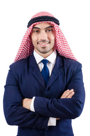 Arab businessman isolated on the white Stock Photo - 18636308