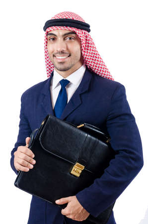 Arab businessman isolated on the white Stock Photo - 18653727