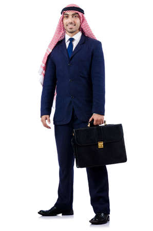 Arab businessman isolated on the white Stock Photo - 18654940