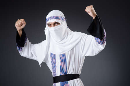 Arab man isolated on the white Stock Photo - 18200934