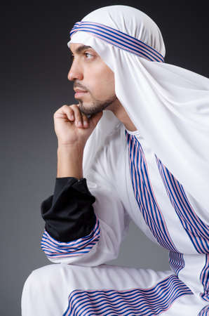 Arab businessman isolated on the white Stock Photo - 18662678