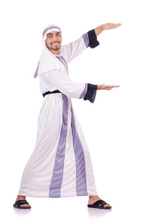 Arab man isolated on the white Stock Photo - 18636447