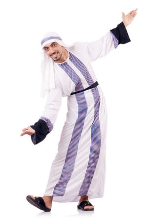 Arab businessman isolated on the white Stock Photo - 18636536