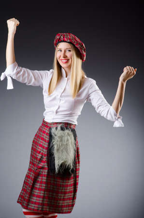 Scottish traditions concept with person wearing kilt Stock Photo - 18654881
