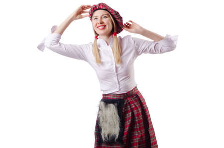 scot: Scottish traditions concept with person wearing kilt