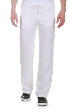 Fashion concept with trousers on white Stock Photo - 18199720